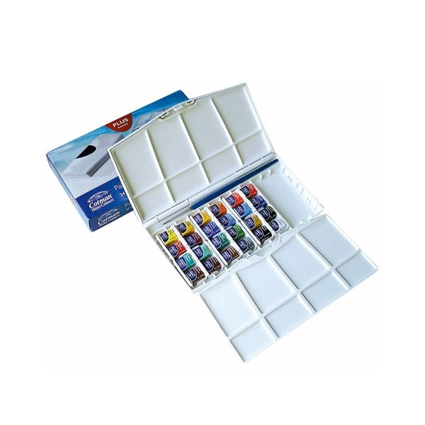 PRE ORDER Winsor and Newton Cotman Painting Plus Half Pan Set of 24