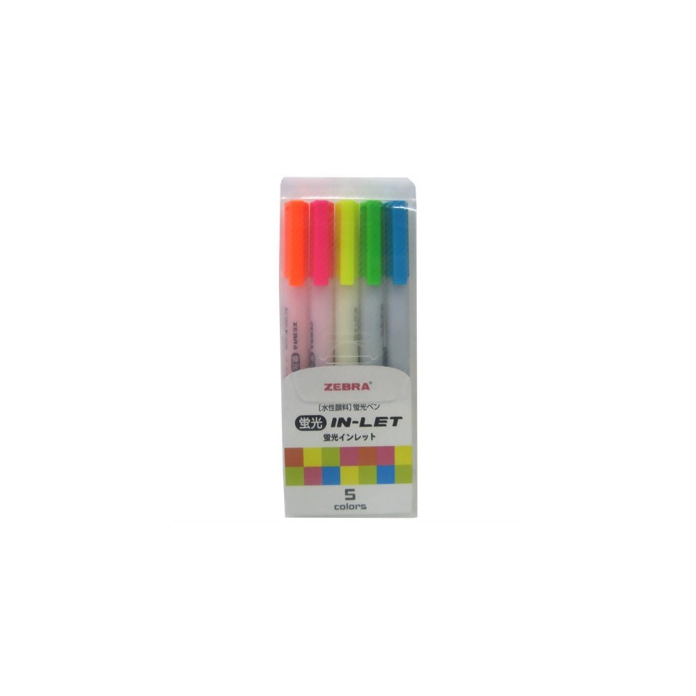 Zebra Highlighter Inlet Set of 5