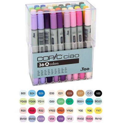 Copic Ciao Markers Set of 36 A