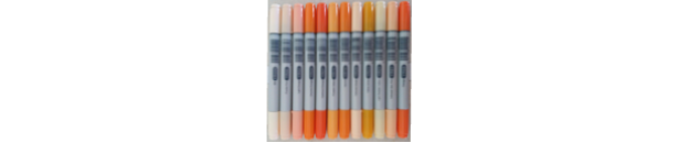 Copic Ciao Yellow Red Orange